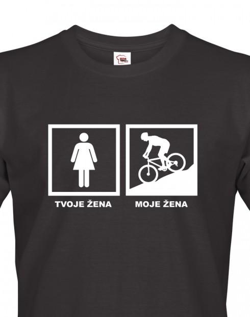 Pánské tričko pro cyklisty Cyklo žena