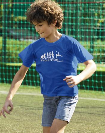 Dětské tričko - Evoluce fotbalu