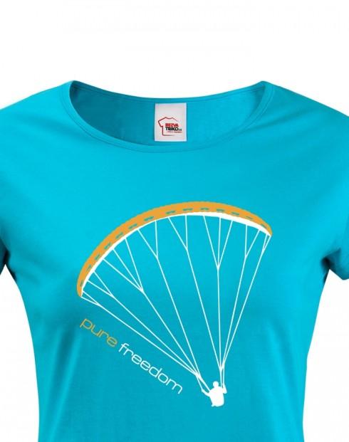 Dámské tričko - Paragliding tričko Pure Freedom