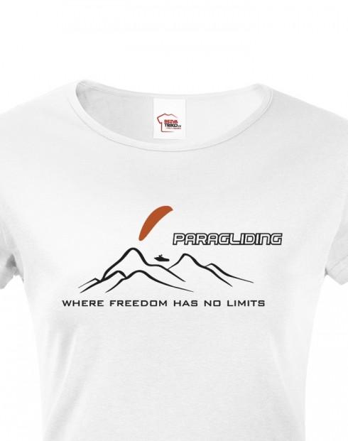 Dámské tričko Paragliding - Where freedom has no limits