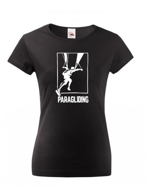 Dámské tričko pro fanoušky paraglidingu