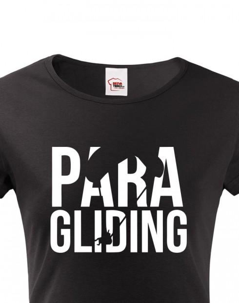 Dámské tričko s motivem paragliding