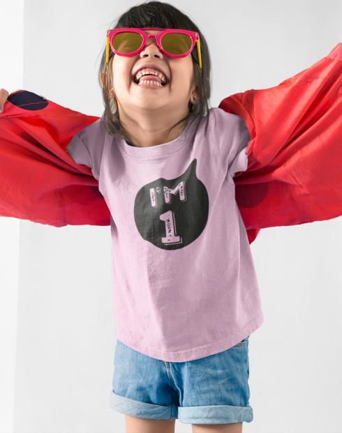 Dětské tričko k narozeninám I´M ONE