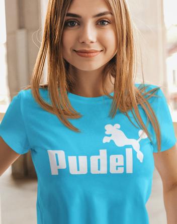 Dámské tričko s potiskem Pudel