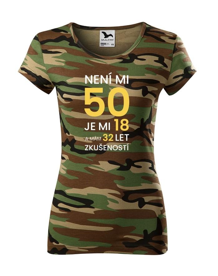 Dámské tričko k 50 narozeninám
