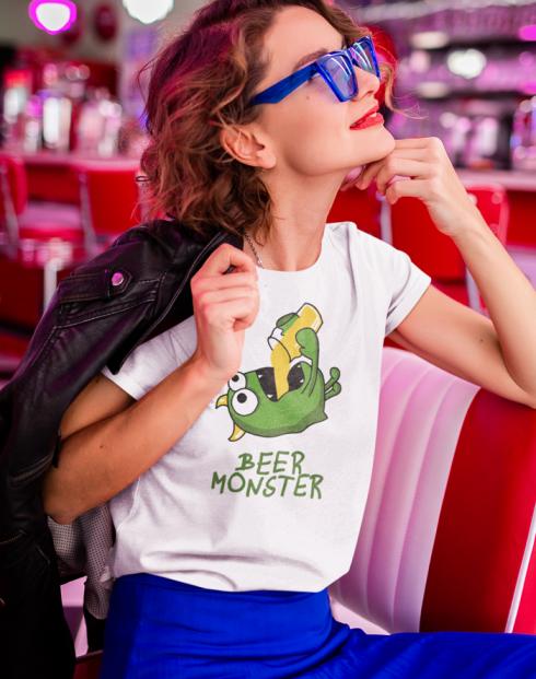 Dámské tričko - Beer monster