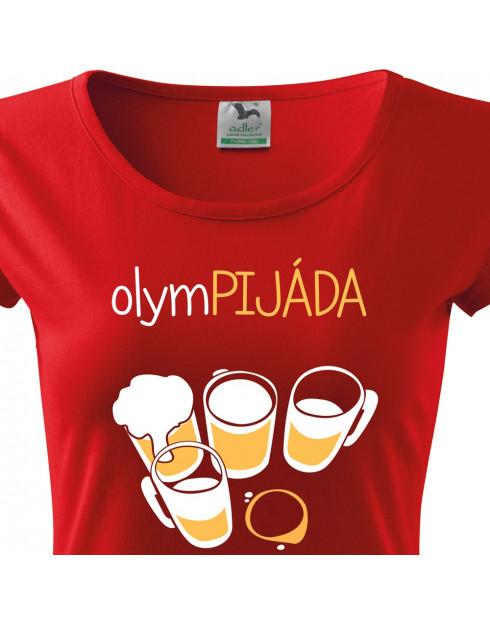 Dámské tričko s potiskem Olympijáda