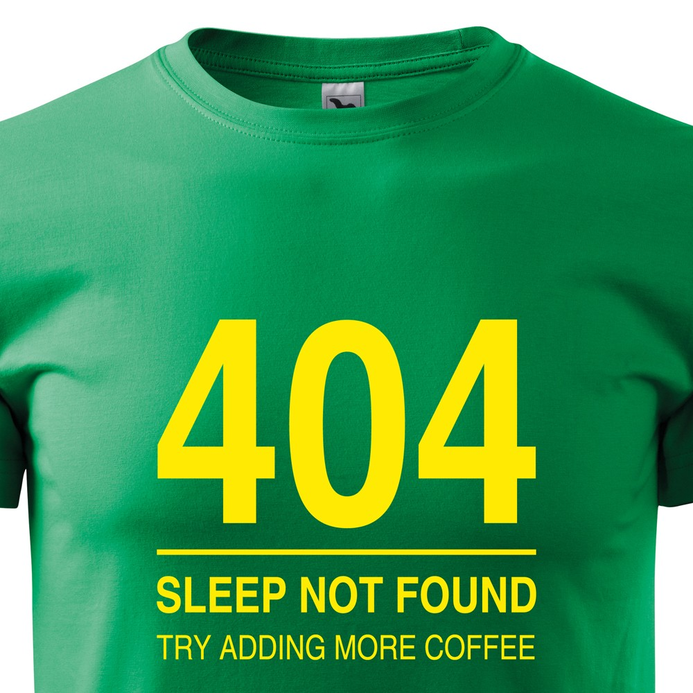 c50505d4630 Pánske tričko pre programátorov 404 sleep not found