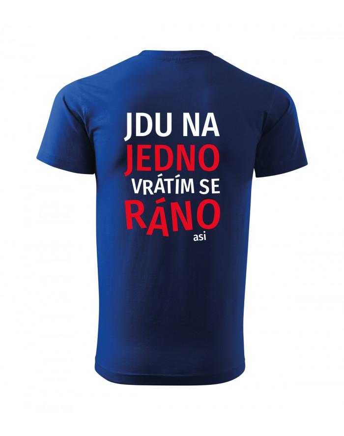 a95a39f9173 Pánské tričko s pivním potiskem Jdu na jedno