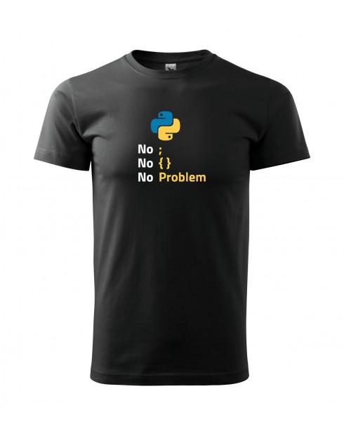 Pánské tričko pro programátory No problem