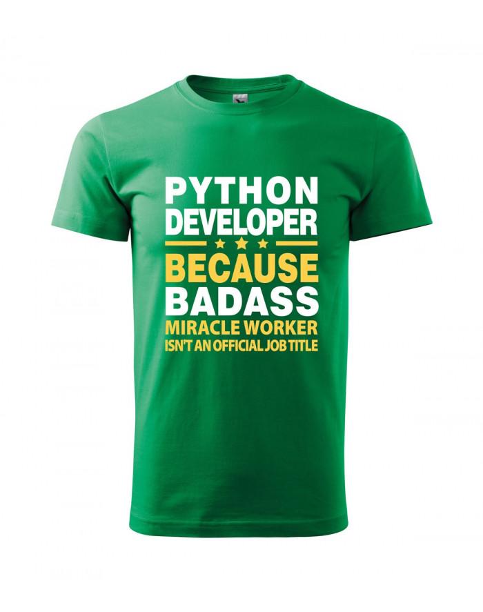 c8543e7189c Pánské tričko pro programátory Python developer