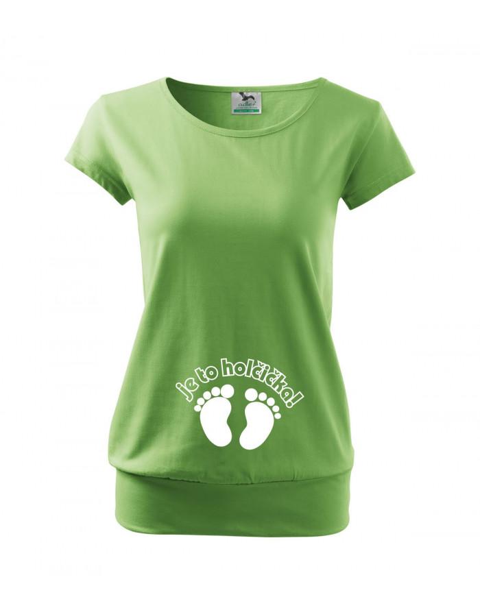 Těhotenské tričko Je to holčička