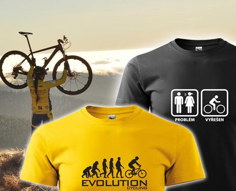 Vtipná trička pro cyklisty
